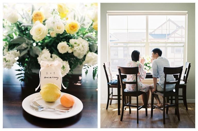 Lifestyle maternity in breakfast nook