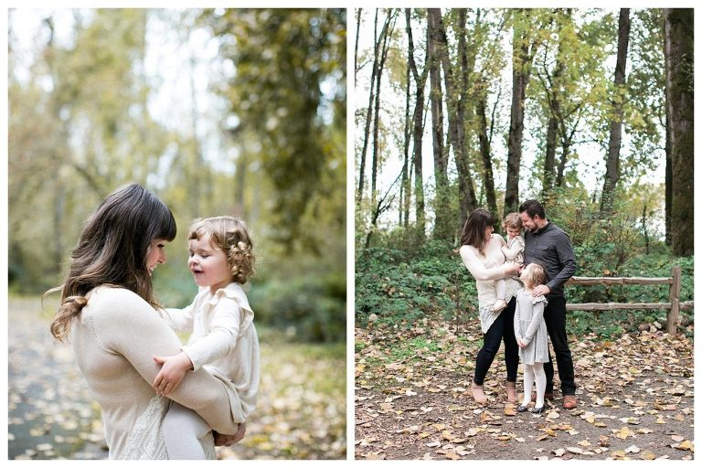 Fall family photo session in Portland Oregon